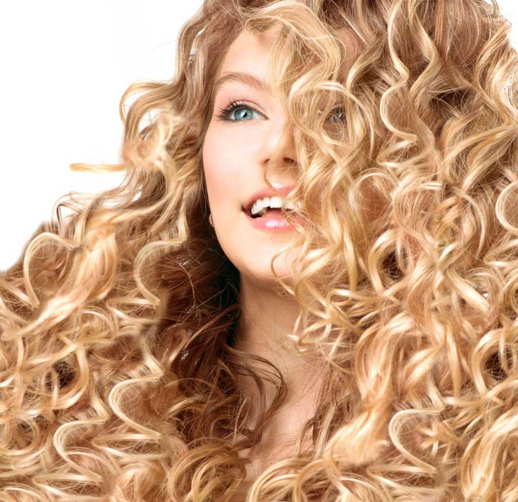 Blonde Hair Curls Highlights