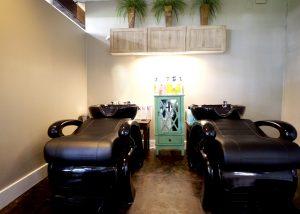 Ringlets & Sass Salon Wash Area