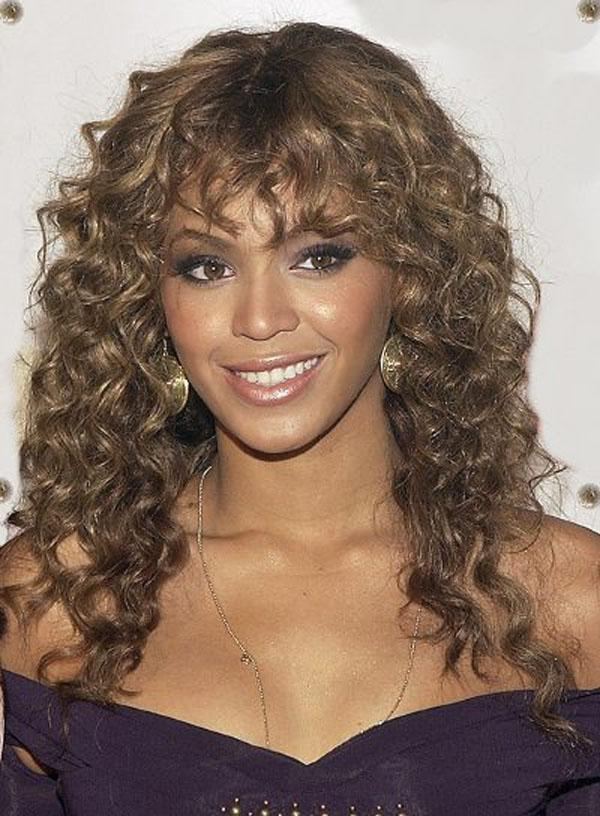 Medium Length Naturally Curly Hairstyles With Bangs Short Curly Hair
