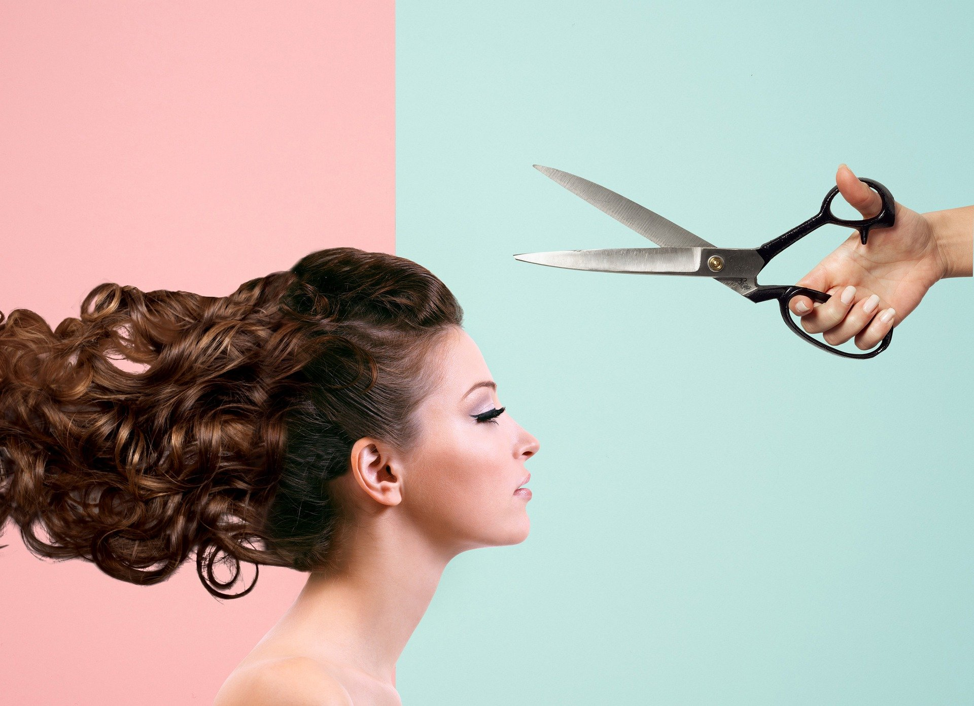 Woman and scissors